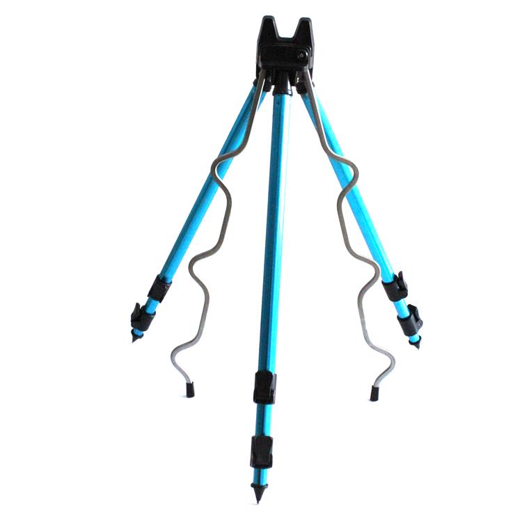 Aluminum Alloy Telescopic Fishing Tripod Holder Stand for Fishing Rod Blue//Black