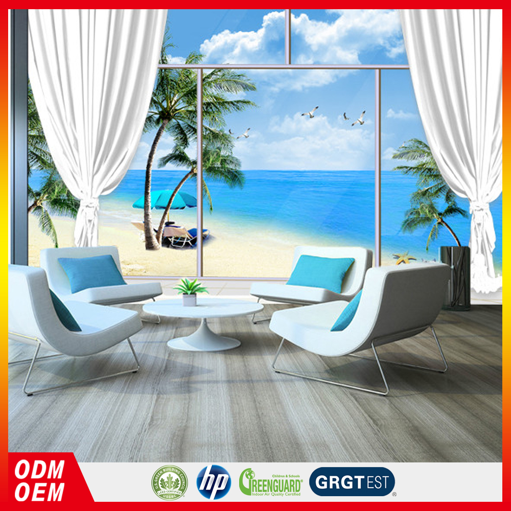 3d Sea View window wallpaper sky and tree 3d paper wall decoration