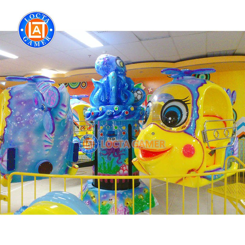 Amusement park mini kids 8 seats Octopus Paul yellow theme park rides self control ride flying plane