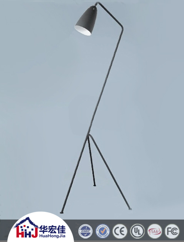 Hotel Retro Stand Arc Floor Lamp With Steel Lamp Shade