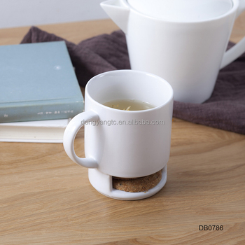 Wholesale Biscuit Holder Mug With Cookie Holder Plain White Glaze ...