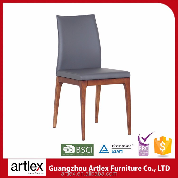Newest PU color customs soft sponge ashtree elegant designs weight leather restaurant wooden chair