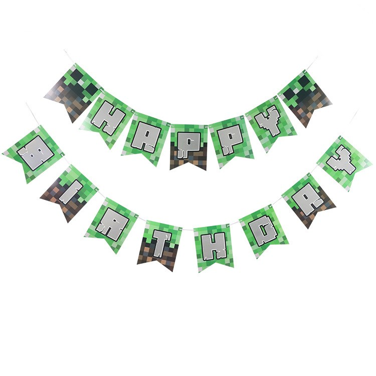 "New Design Green Paper Banner ""HAPPY BIRTHDAY"" Banner for World Cup Birthday"