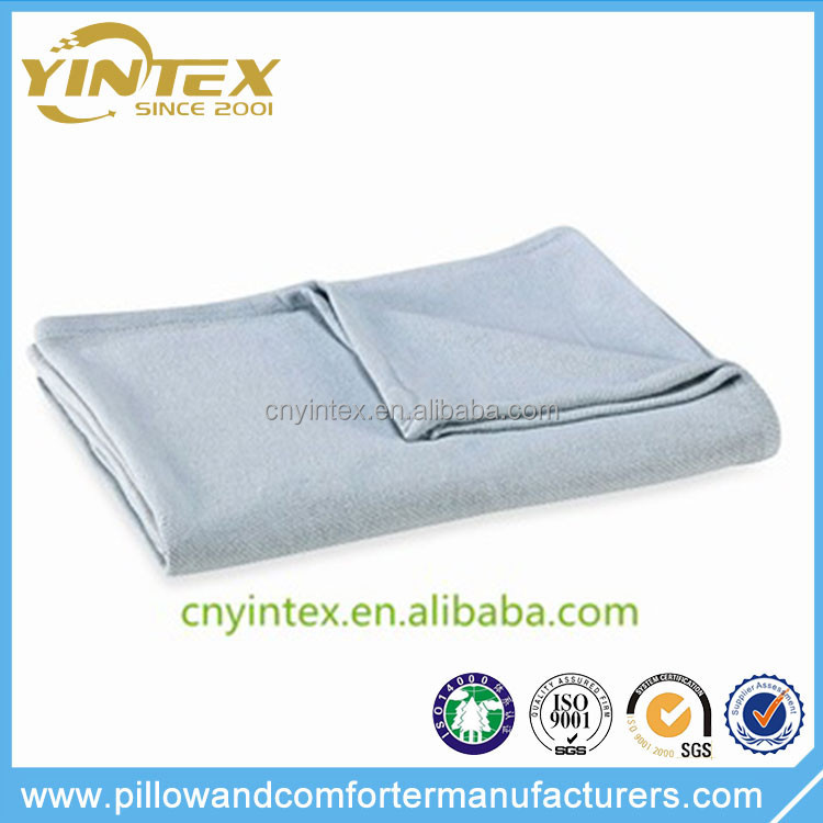 Twill Woven Airline Polyester Blankets Inflight Blanket hospital blanket