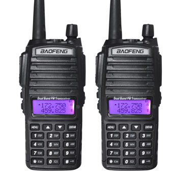 Long Distance Ham Radio Walkie Talkie Tri Power Baofeng uv 82 8watt Handheld Dual Band 2 Way Radio