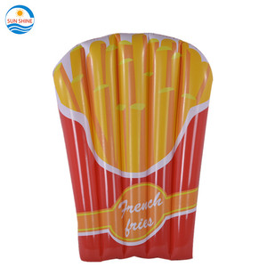 Hot selling Inflatable French Fries Pool float, summer pool bed swimming float bed