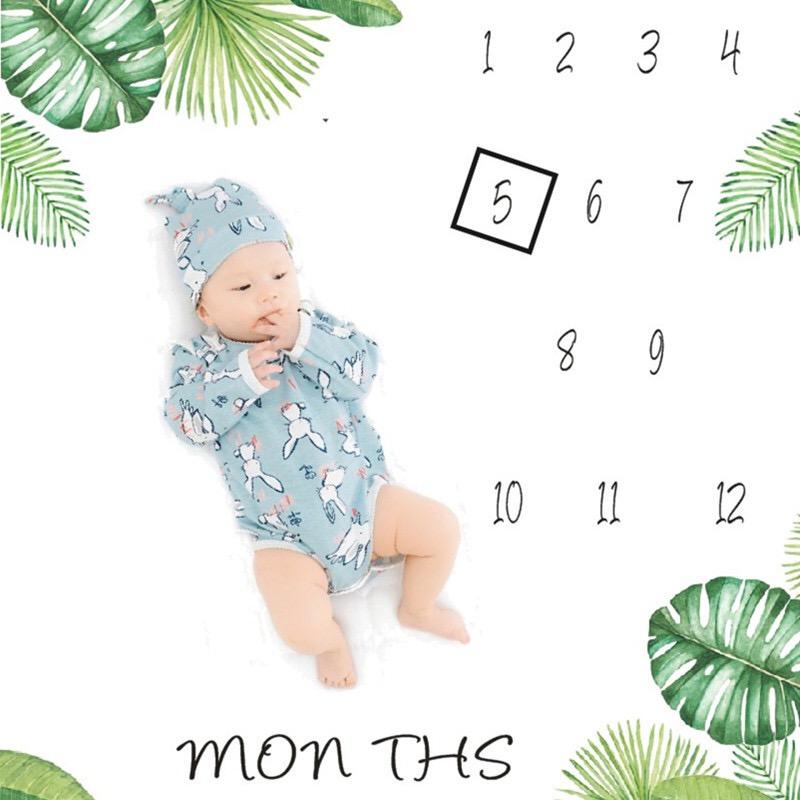 Photo Prop สำหรับ Swaddling เด็กของขวัญรายเดือน Soft Micro Fleece Flannel ผ้าห่มเด็ก