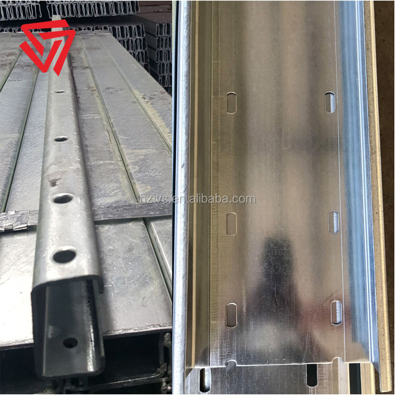 ASTM A123 hot dipped galvanised Z shape steel purlin price