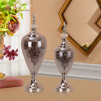 Guangzhou Mingya crafts branded quality special flower grey glass home decoration