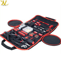 Waterproof 600D Polyester Folding Rolling Tool Tote Bag Case, Roll Up Zippered Tool Kit Set Bag