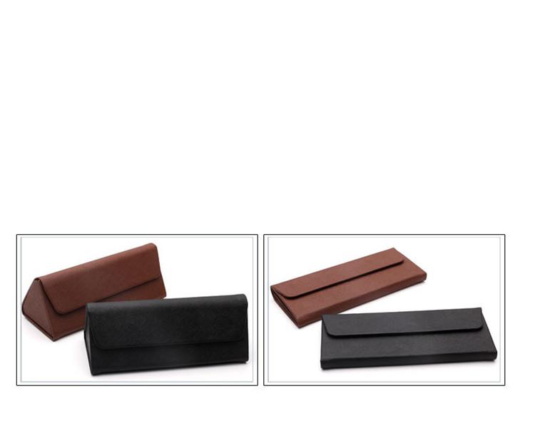 China factory handmade custom logo triangle folding case for sunglasses