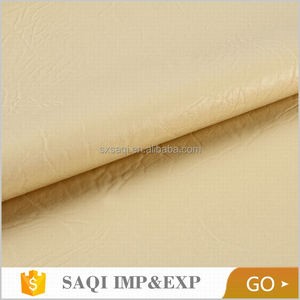 shaoxing textile fashion leather for chair yellow pu leather sofa fabric