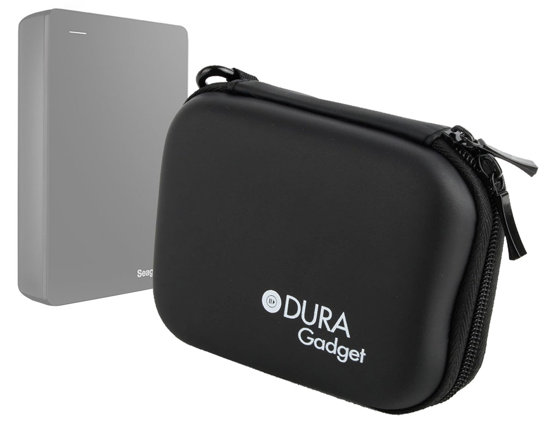 DURAGADGET Hardwearing Jet Black EVA Case With Belt Clip & Soft Lining For Seagate STBU1000200 1TB Backup Plus