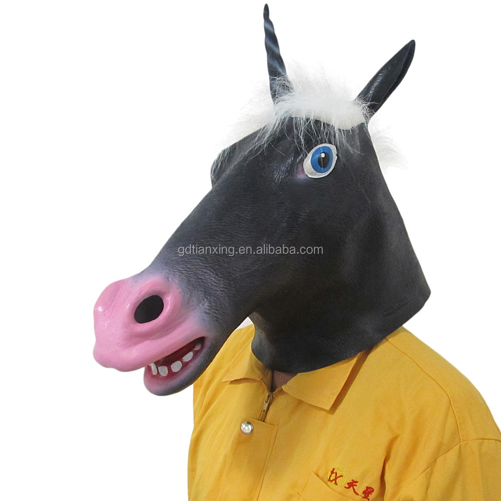 horse head animal Latex Party Mask Halloween mask paypal accepted