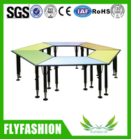 Adjustable Kindergarten Furniture Products / Children Classroom Furniture Set / Primary School Furniture round kids table