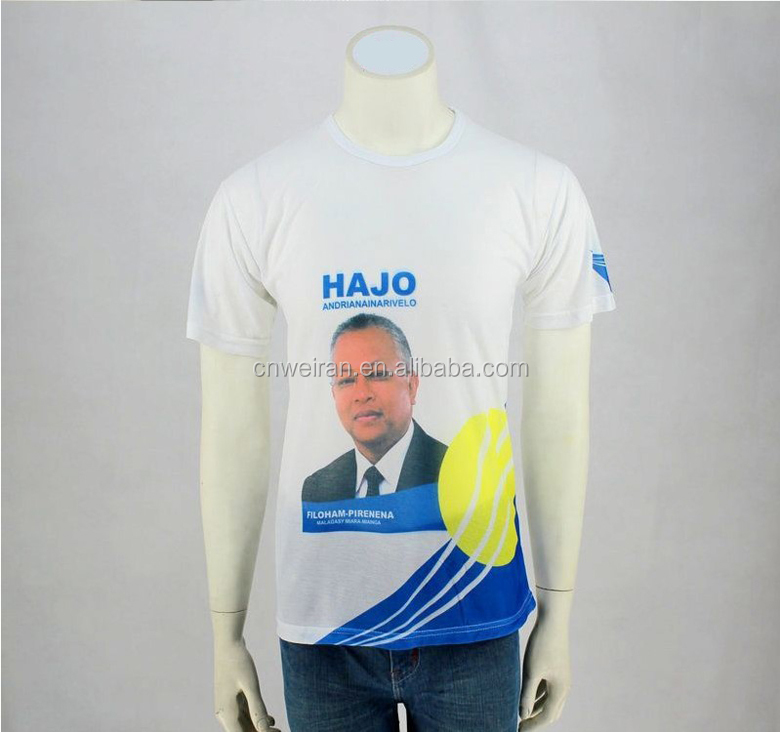 2016 election Campaign OEM factory custom print cotton t shirt