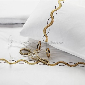 Hand Embroidery Designs For Bed Sheets For Hospitality Beddings