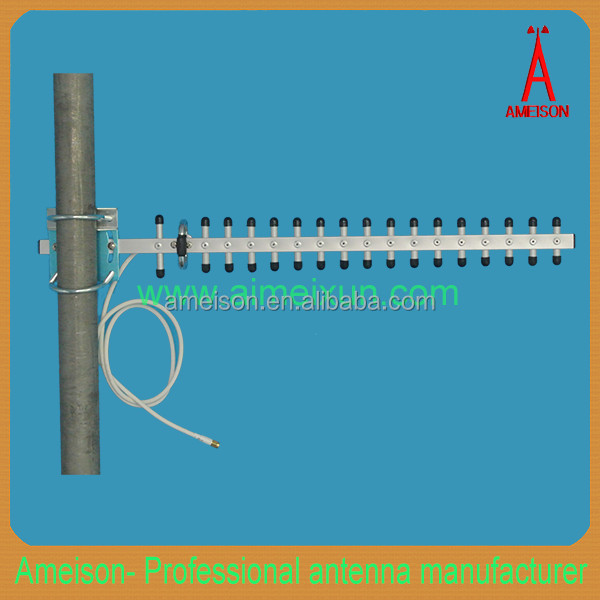 Antenna Manufacturer 2400-2483MHz 18dBi heavy-duty extruded anodized Aluminum Alloy Yagi directional long range wifi antenna