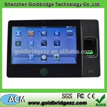 Biopad100 7 inch touch screen TFT anviz biometrics fingerprint time attendance time with camera
