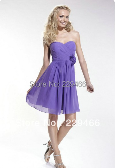 35b8a9bd01b1c Get Quotations · High Quality Sweetheart Elegant Ruffle Chiffon Light Purple  Short Bridesmaid Dress 2013 wzy208