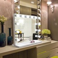 Desktop Led Bulbs Vanity Lighted Hollywood Makeup Mirrors
