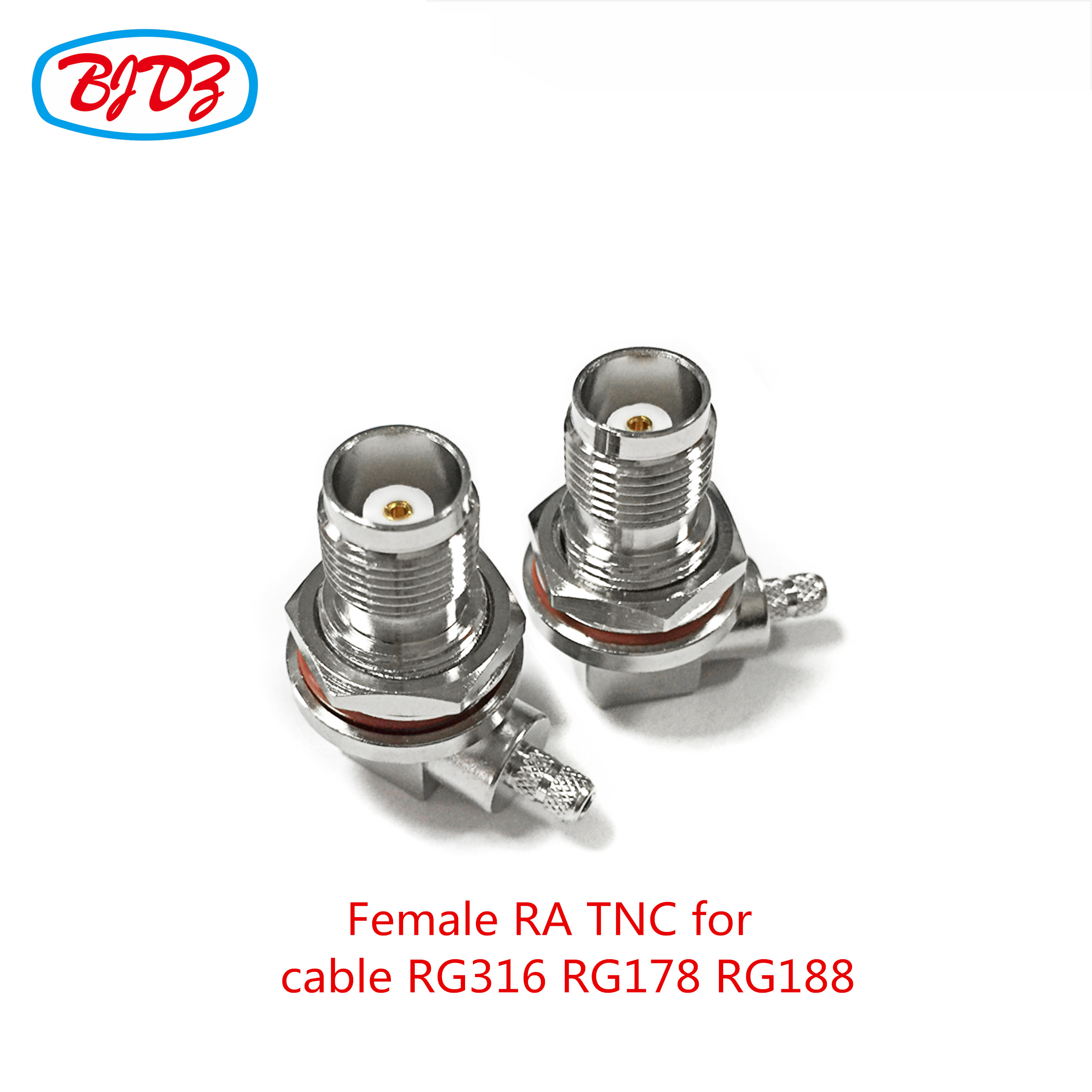Waterproof rf connector bulkhead mounted tnc female connector for cable RG178