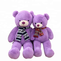 Fat Giant Beautiful Purple Color Teddy Bear Plush Toy