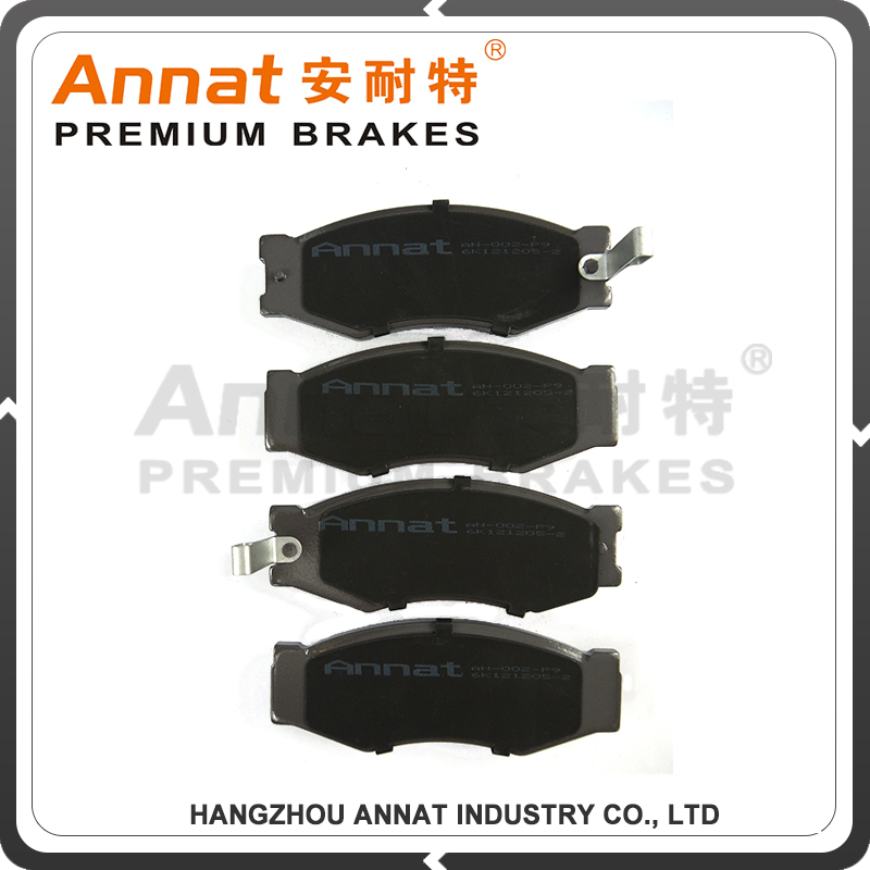 rear brake pad for American car with rubber shim