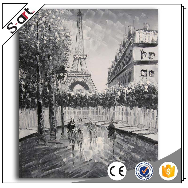 Handpainted Wall Art Impressionist Paris Street Scene Oil Painting Buy Impressionist Street Scene Oil Painting Paris Street Scene Oil