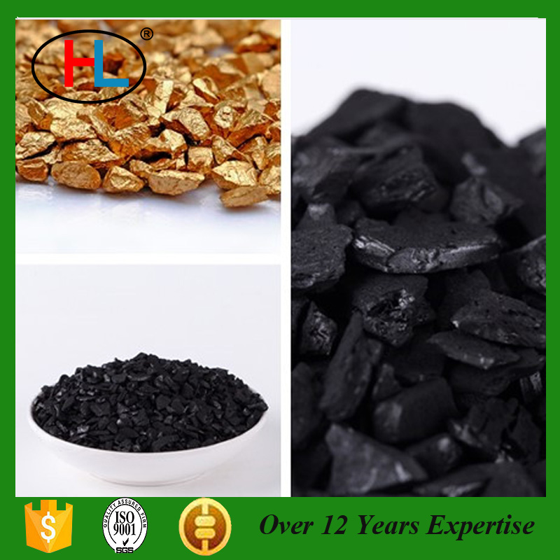 6-12 Mesh Gold Adsorption On Activated Carbon Charcoal With ISO Certification