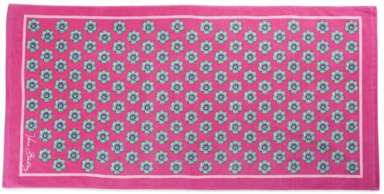 f5284311b302 Get Quotations · Vera Bradley Beach Towel in Pink Swirls Flowers