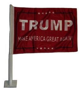 Knitted polyester double side President Trump Great Red Double Sided car Flag