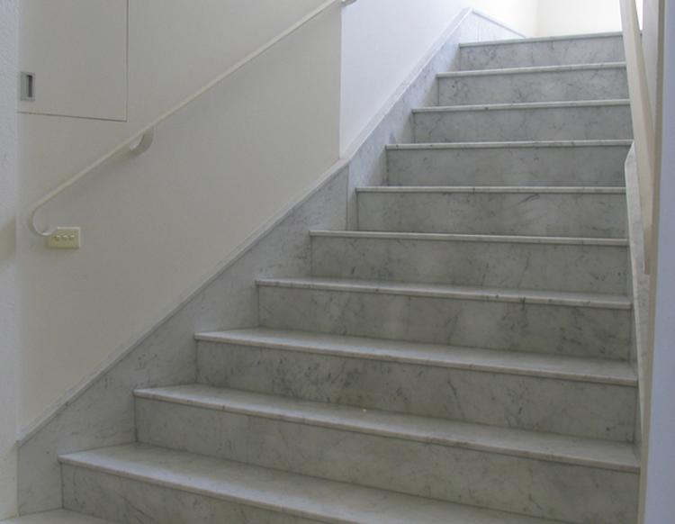 piedra natural moderna escalera de mrmol blanco de carrara escaleras