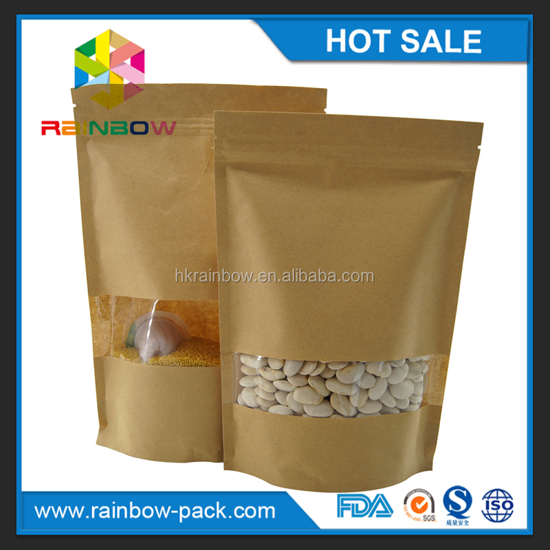 food grade kraft paper aluminum foil ziplock foil cake flour cookies candy food packing bag