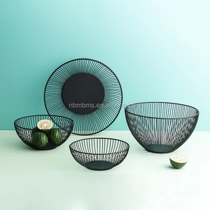 Custom Kitchen Fashion Metal Wire Fruit Storage Basket