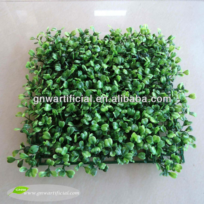 BOX010 GNW 25x25cm artificial boxwood hedge for landscaping garden decoration