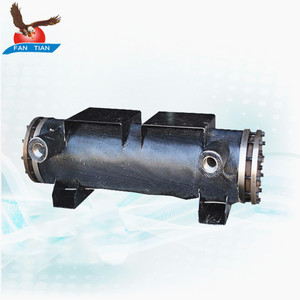 Copper Coil Shell and Tube Type Heat Exchanger Water Chiller Evaporator
