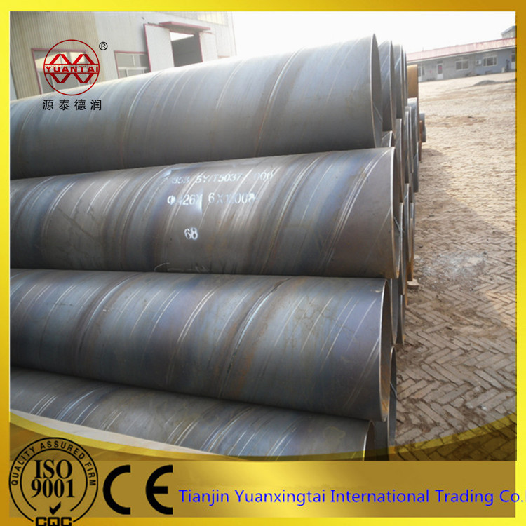 API 5L linepipe large diameter black erw x52 x65 steel tube with best price in tianjin
