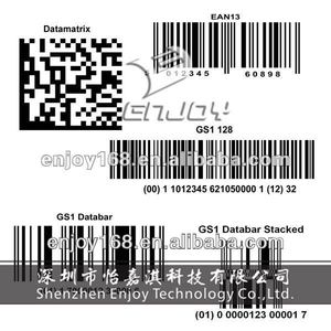 2D barcode sticker serial number barcode label sticker