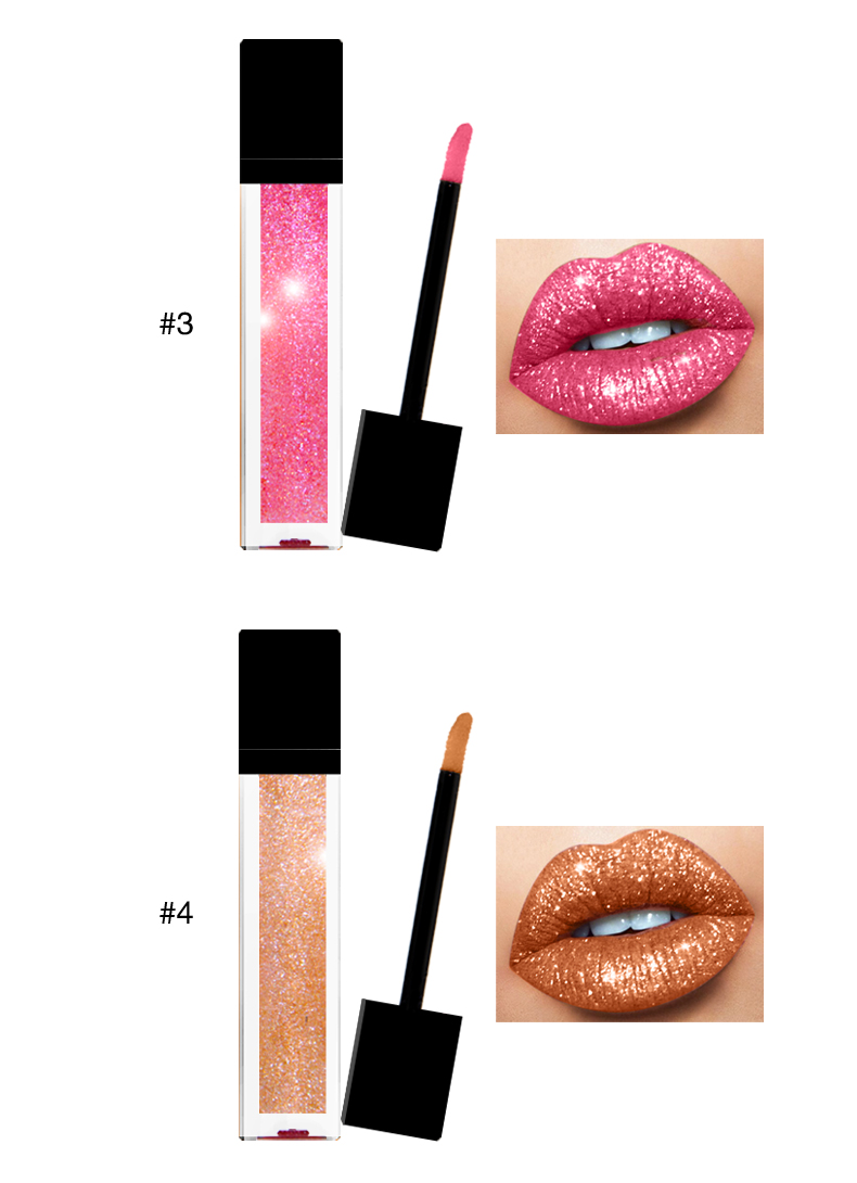 Lipstik kustom Grosir Private Label Kosmetik Glitter liquid lipstik pelembab lip gloss