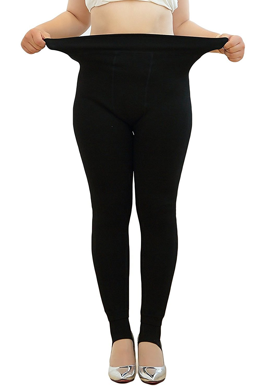 3bad74220 Get Quotations · Century Star Womens Plus Size Winter Thick Warm Leggings  Stretch Pants Tights