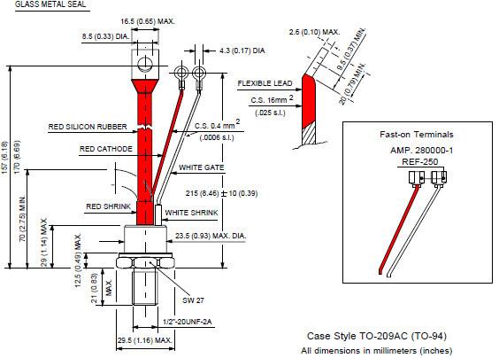 ir stud type scr phase control thyristor st 180s 04-12p0v
