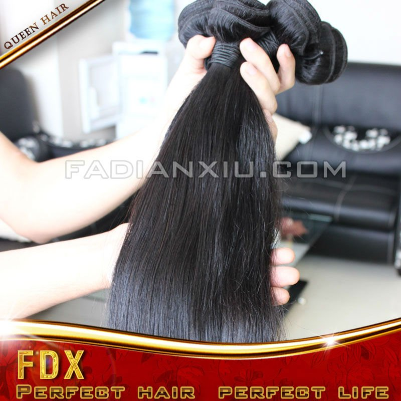 2012 best selling Grade AAAAA 100% human hair natural black unprocessed virgin russian hair no tangle