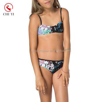 9505ffeaaf Kids floral printing swimwear bikini/girls' swimsuit/kid's swimsuit/ beachwear