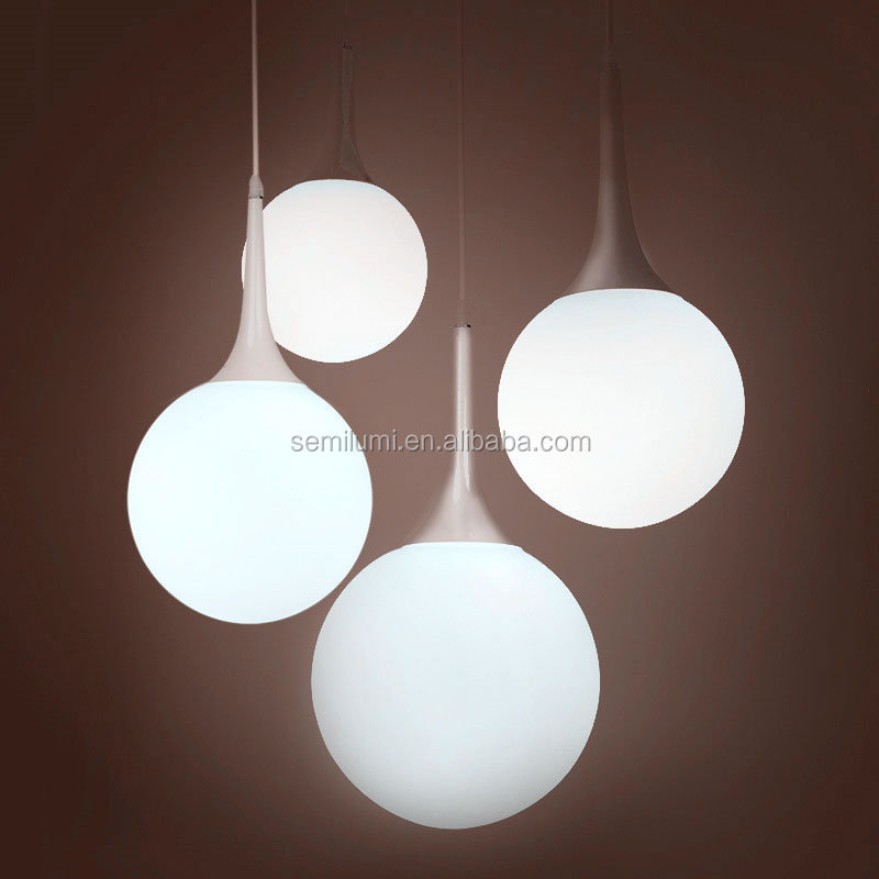 Glass hanging light Matt glass globe ball pendant lamp Castore Pendant Lamp