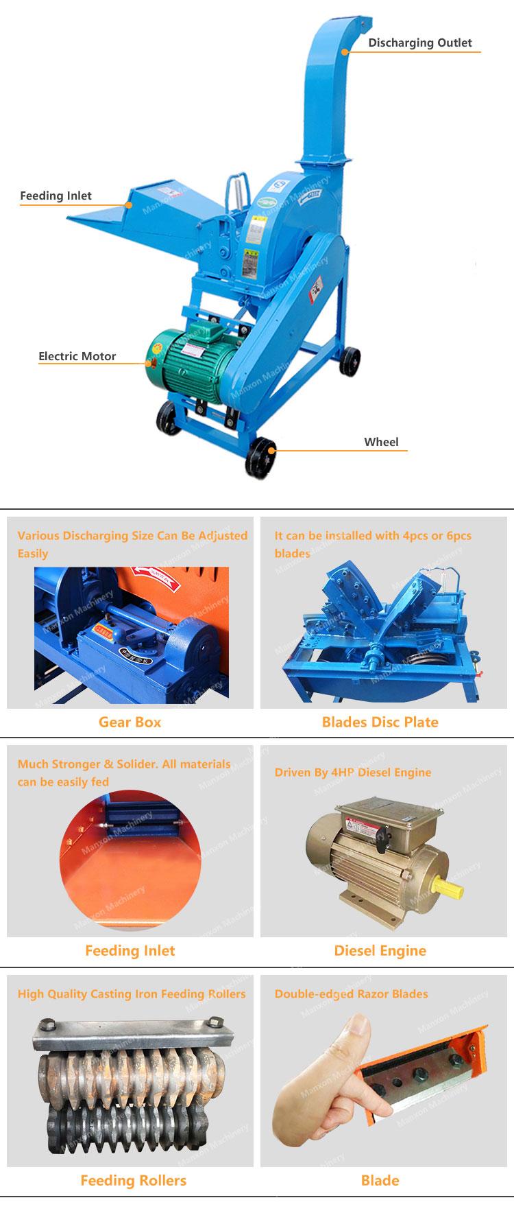 छोटे मॉडल 9ZP-2.5 फूस कटर मशीन पाकिस्तान में सबसे उपयुक्त के साथ अपने छोटे से खेत के लिए उच्च गुणवत्ता