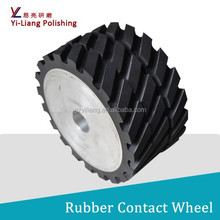 wood Mobile phone shell sand band rubber coated aluminum abrasive wheels