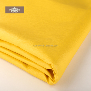Distinguished Yellow Leather PVC Synthetic Leather PU Leather for Upholstery