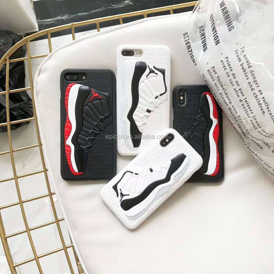NBA Basketball Shoes 3D Embossed Mobile case for iphone 6 7 8 X XR XS Max