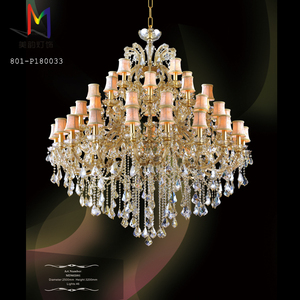 Mid-glass large luxury hotel art Crystal customized pendant light